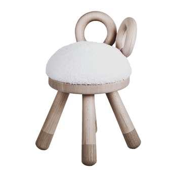 EO - Faux Fur Chair - Sheep (H39 x W26 x D24cm)