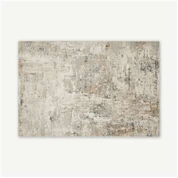 Epicoco Luxury Viscose Rug, Antique Gold & Grey (H200 x W300 x D2cm)