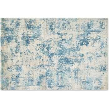 Epicoco Luxury Viscose Rug, Large, Slate Blue (H160 x W230cm)