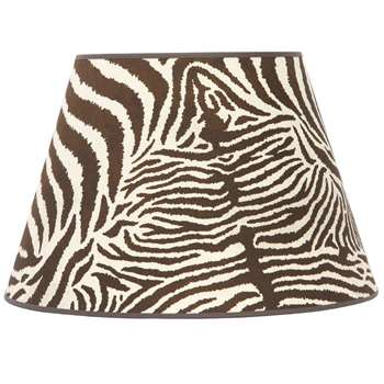 House of Hackney - Equus Daley Zebra Print Cotton Lampshade (27 x 40cm)