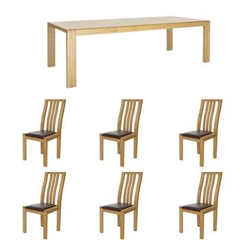 Ercol Bosco - 1 Table 6 Chairs (H74 x W175 x D90cm)