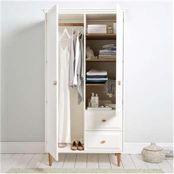 Ercol Devon Wardrobe, White (H198 x W106 x D63cm)