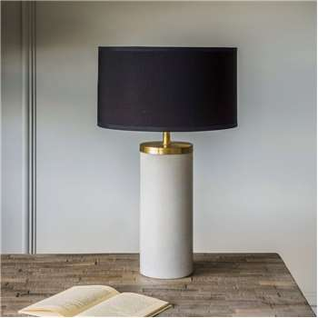 Ernst Marble And Metal Table Lamp (H37 x W11 x D11cm)