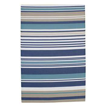ESCALE polypropylene stripe outdoor rug in blue (120 x 180cm)