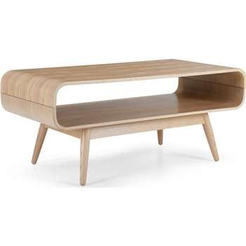 Esme Compact Coffee Table, Ash (45 x 90cm)