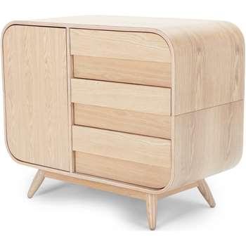 Esme Compact Sideboard, Ash (75 x 90cm)
