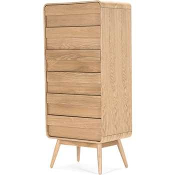 Esme tall chest, ash (136 x 60cm)