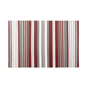 ESPELETTE Outdoor Rug with Multicoloured Stripe Print (H120 x W180cm)