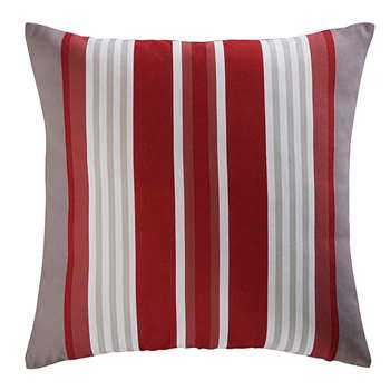 ESPELETTE red and white striped fabric outdoor cushion (45 x 45cm)