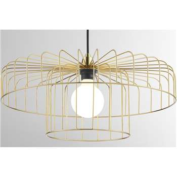 Estella Lamp Shade Set, Brass (H30 x W50 x D50cm)