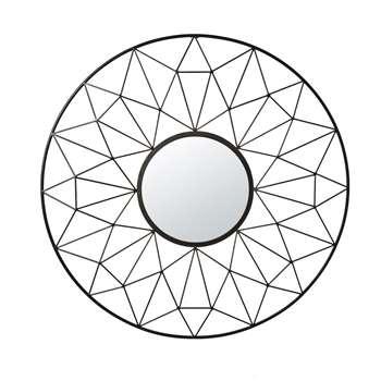 ESTRELLA - Black Wire Mirror (H95 x W95 x D5cm)