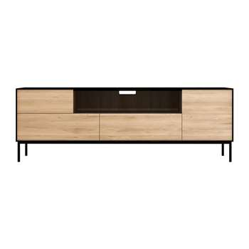 Ethnicraft - Blackbird TV Cabinet - Oak/Black (H61 x W180 x D45cm)