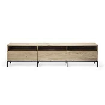 Ethnicraft - Ligna TV Cabinet - Oak - 3 Drawers (H52 x W210 x D45cm)