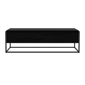 Ethnicraft - Monolit TV Cabinet - Black (H42 x W140 x D45cm)