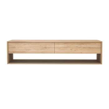 Ethnicraft - Nordic TV Cabinet - Oak (H45 x W180 x D46cm)