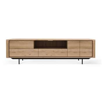 Ethnicraft - Shadow TV Cabinet - Oak - 2 Doors & 3 Drawers (H63 x W224 x D45cm)