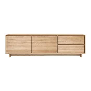 Ethnicraft - Wave TV Cabinet - Oak - 2 Doors & 2 Drawers (H60 x W210 x D46cm)
