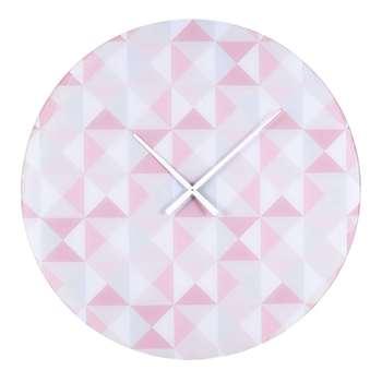 EVA glass clock with printed rose motifs (70 x 70cm)