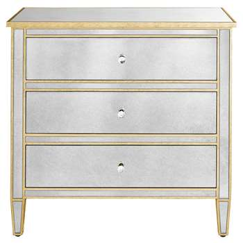 Evelyn 3 Drawer Chest - Gold 80.5 x 85cm