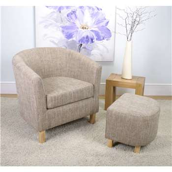 Evelyn Tweed Tub Chair Set (72 x 74cm)