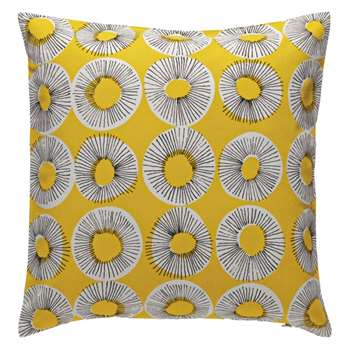 Habitat Evelyn Patterned Cushion - Yellow (H45 x W45cm)