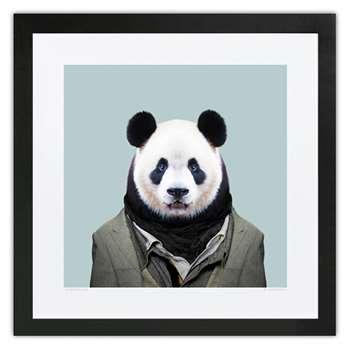 Evermade Zoo Portrait Framed Print - Panda (36 x 36cm)