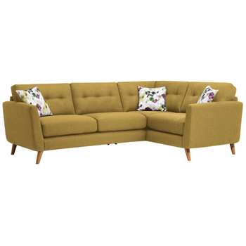 Evie Lime Fabric Corner Sofa Left Hand (H90 x W248 x D174cm)