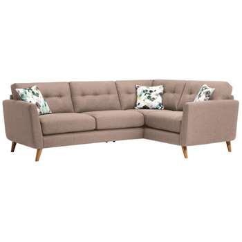 Evie Mink Fabric Corner Sofa Left Hand (H90 x W248 x D174cm)
