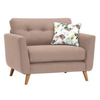 Evie Mink Fabric Loveseat (H90 x W117 x D88cm)