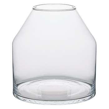 Ewa Clear Oversized Glass Vase (H25 x W24 x D24cm)