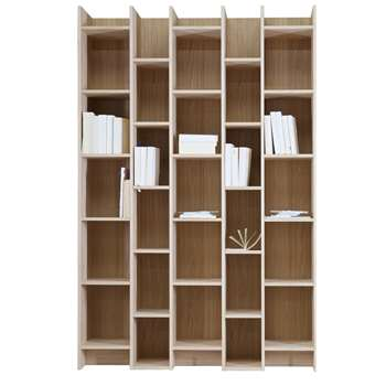 Expand Cabinet Bookcase with Extension in Oak Veneer (Width 130cm)