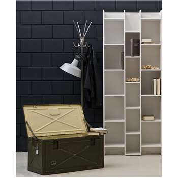 Expand Cabinet & Bookshelf in Contemporary Pine White 200 x80cm