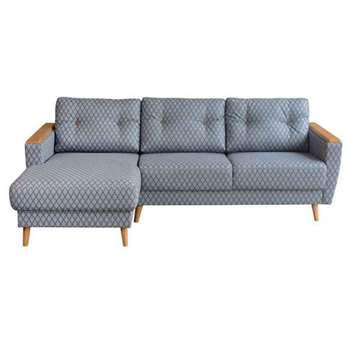 Expo Left  hand Corner Sofa  Retro Leaf (80 x 223cm)