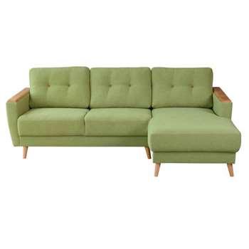 Expo Right hand Corner Sofa Malaga Apple Green (80 x 223cm)