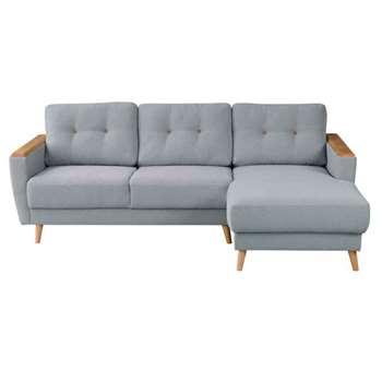 Expo  Right hand Corner Sofa  Malaga Steel (80 x 223cm)