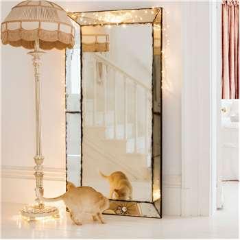 Extra Large Antiqued Venetian Mirror (H180 x W90 x D12cm)