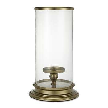 Extra Large Brass Hurricane Lamp (35 x 22cm)