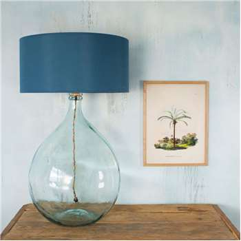 Extra Large Clear Round Glass Lamp (H58 x W36 x D36cm)