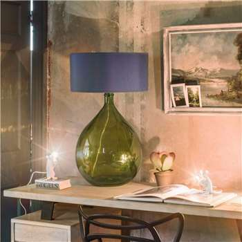 Extra Large Green Round Glass Lamp (Height 62cm)