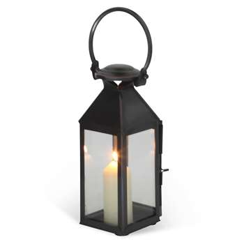 Extra Small Chelsea Lantern in Venetian Stainless Steel with Bronze Finish 23 x 11cm