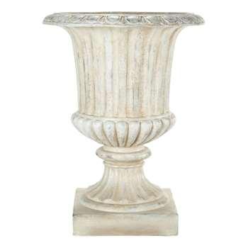 EYGUIERES magnesia garden urn in white (71 x 56cm)