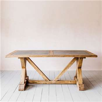 Ezra Elm Dining Table (H78 x W200 x D100cm)