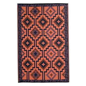 Fab Hab Lhasa Outdoor Rug in Coral (H120 x W180cm)