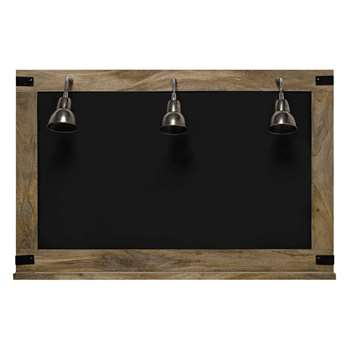 FACTORY blackboard + 3 wall lights (H85 x W130 x D25.5cm)