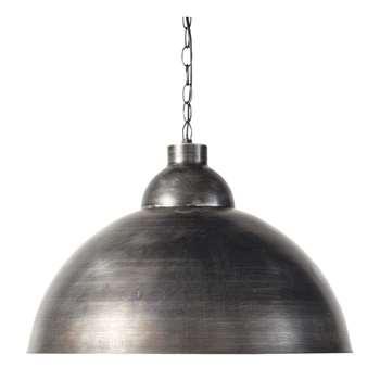 FACTORY brushed metal pendant lamp D 50cm