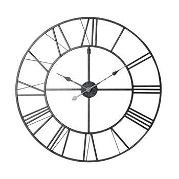 FACTORY metal clock in black (Diameter 80cm)