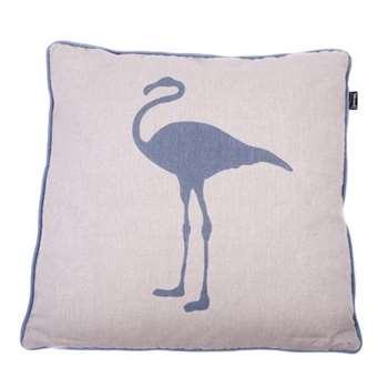Faded Blue Flamingo Cushion Cover (50 x 50cm)