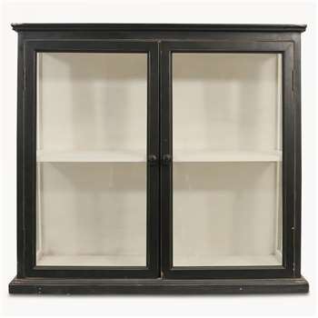Fairfield Black Wooden Cabinet with Glass Doors (75.5 x 67.5cm)