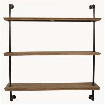 Fairfield Industrial Three Shelf Unit (H126 x W120 x D30cm)