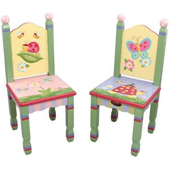 Fantasy Fields Magic Garden Set of 2 Kids Chairs (H70.61 x W31.5 x D31.5cm)